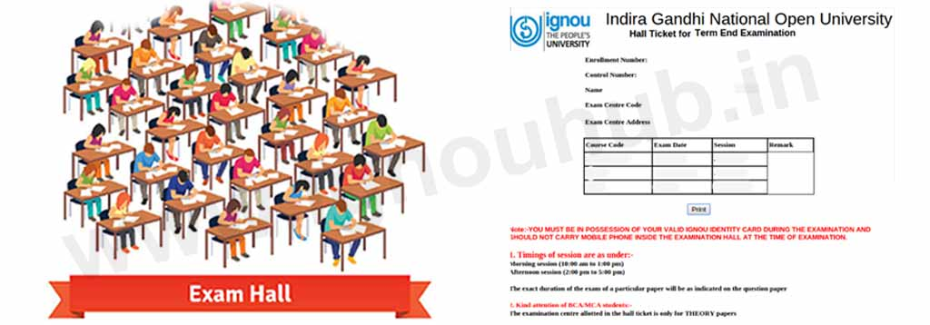 ignou admit card