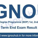 IGNOU BDP result part 1, 2, 3