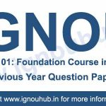 Ignou BHDF 101 previous year question papers