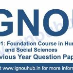 Ignou BSHF 101 previous year question papers
