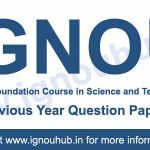 Ignou FST 01 question papers