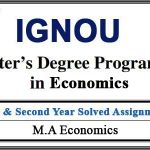 Ignou MEC solved assignments (MA Economics)