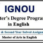 Ignou MEG Solved Assignments (MA English)