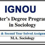 Ignou MSO solved assignments (MA Sociology)
