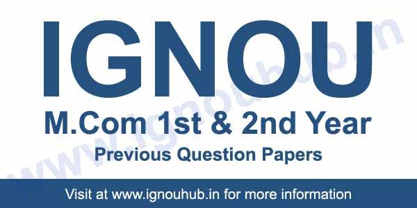 Ignou M.Com Question Papers