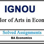 IGNOU EEC / BECE Solved Assignments (BA Economics)