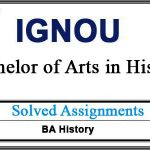 Ignou EHI Solved Assignments (BA History)
