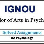 Ignou BA Psychology Solved Assignments (BPC)