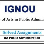 IGNOU EPA Solved Assignments (Public Administration)
