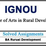 Ignou BRDE 101 solved assignment