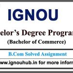 Ignou B.Com Solved Assignments (ECO)