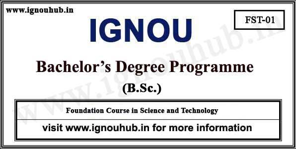 IGNOU FST 1 Solved Assignment 2019 | ignouhub in