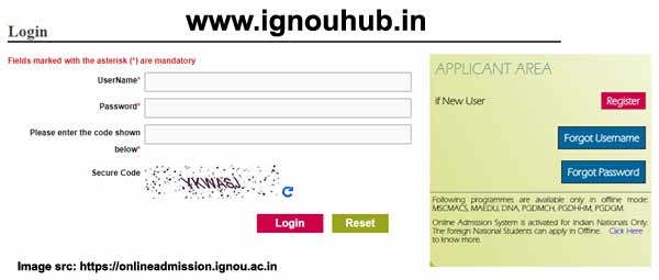 Ignou Id card login