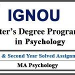 IGNOU MAPC Solved Assignments (MA Psychology)