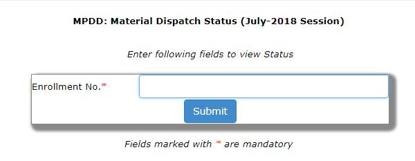 ignou study material status july 2018