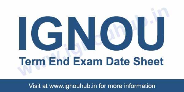 IGNOU Date Sheet June 2018