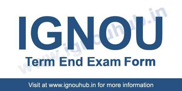 Ignou exam form June 2018