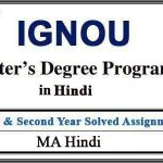 IGNOU MHD Solved Assignments (MA Hindi)