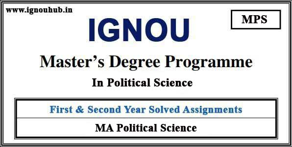 IGNOU MPS Solved Assignments