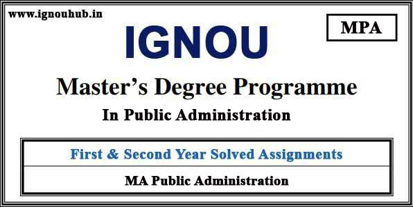 IGNOU MPA Solved Assignments