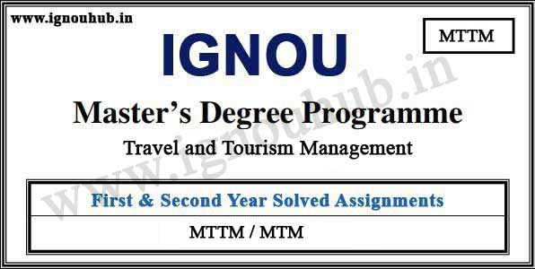 MTM IGNOU Solved Assignments (MTTM)