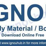 Download IGNOU Study Material and Books online