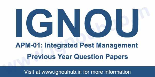 IGNOU APM 1 Previous Question Papers