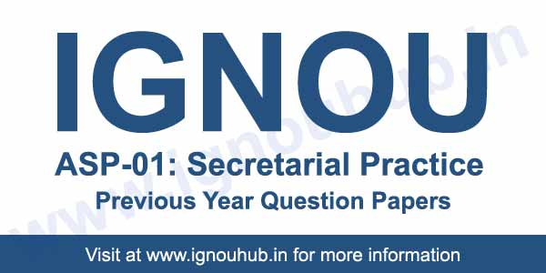 IGNOU ASP 1 previous question papers