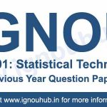 IGNOU AST 1 Previous Question papers