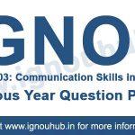 Ignou BEGE 103 Question Paper