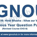 ignou BHDE 106 question paper