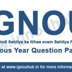 IGNOU EHD 3 Previous Year Question Papers