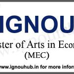 MA Economics IGNOU