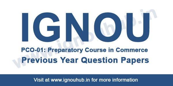 IGNOU PCO 1 Previous Question Papers