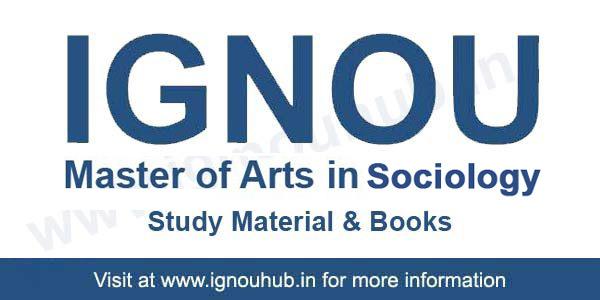 IGNOU- BA Sociology Printed Notes - Study Material