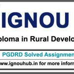 PGDRD IGNOU Solved assignments for January & July session in English & Hindi Medium