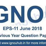 EPS 11 Question Paper June 2018