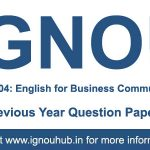 IGNOU BEGE 104 Question Paper