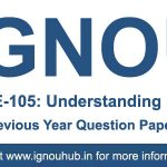 BEGE 105 Question Paper (IGNOU BA English)