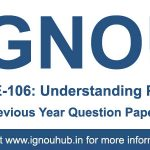 BEGE 106 Question Paper (IGNOU BA English)