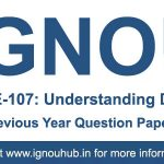 BEGE 107 Question Paper (IGNOU BA English)