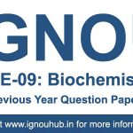 CHE 9 Question Paper of IGNOU previous Years