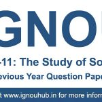 ESO 11 Question Paper (IGNOU BA Sociology)