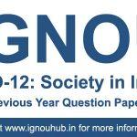 ESO 12 Question Paper (IGNOU BA Sociology Question Paper)