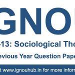 ESO 13 Question Paper (IGNOU BA English)