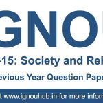 ESO 15 Question Paper (IGNOU BA English)