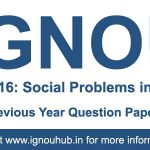 ESO 16 Question Paper (IGNOU BA English)