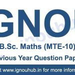 MTE 10 Question Paper