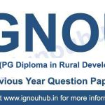 IGNOU PGDRD Question paper - RDD-6, RDD-7, MRD-101, MRD-102, MRD-103, MRD-004, MRDE-101