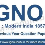 IGNOU EHI 1 Question Paper